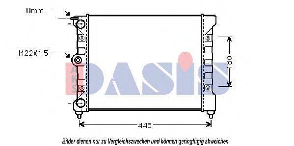 AKS DASIS 040430N Радиатор охлаждения двигателя