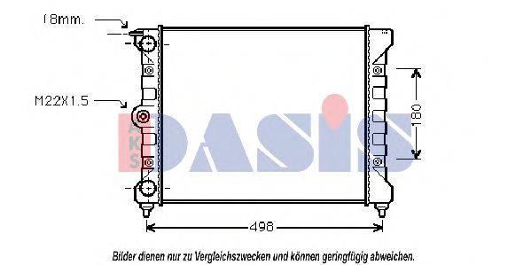 AKS DASIS 040440N Радиатор охлаждения двигателя