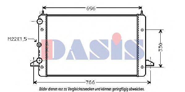 AKS DASIS 040480N Радиатор охлаждения двигателя