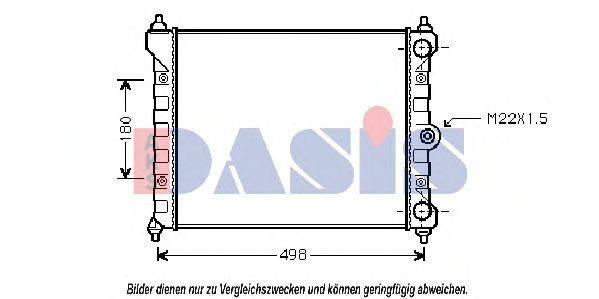 AKS DASIS 041370N Радиатор охлаждения двигателя