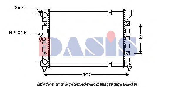 AKS DASIS 041630N Радиатор охлаждения двигателя