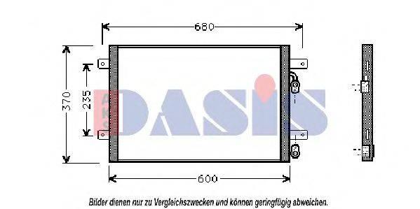 AKS DASIS 042080N Конденсатор кондиционера