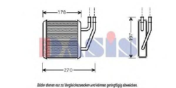 AKS DASIS 046011N Радиатор печки