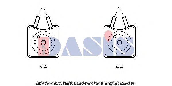 AKS DASIS 046110N Масляный радиатор