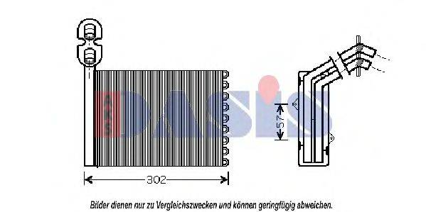 AKS DASIS 049002N Радиатор печки