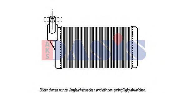 AKS DASIS 049004N Радиатор печки