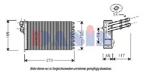 AKS DASIS 049005N Радиатор печки