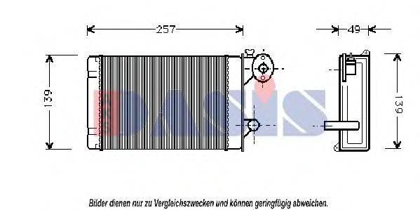 AKS DASIS 049010N Радиатор печки