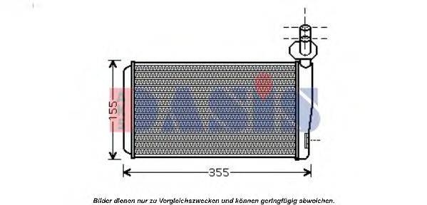 AKS DASIS 049013N Радиатор печки