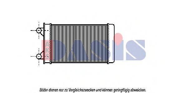 AKS DASIS 049120N Радиатор печки
