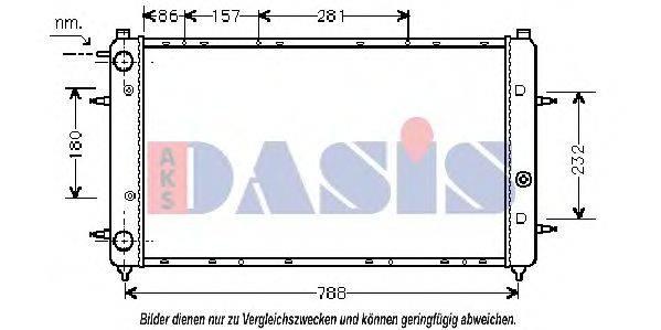 AKS DASIS 240050N Радиатор охлаждения двигателя