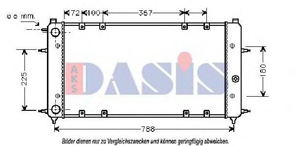 AKS DASIS 240060N Радиатор охлаждения двигателя