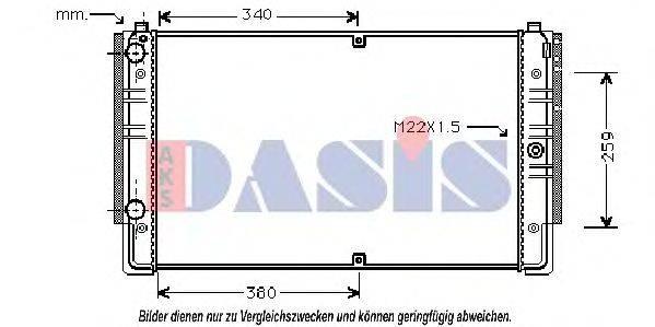 AKS DASIS 240090N Радиатор охлаждения двигателя