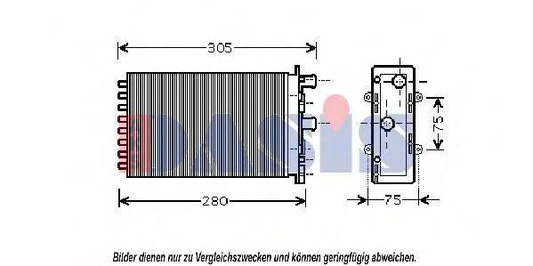 AKS DASIS 249020N Радиатор печки