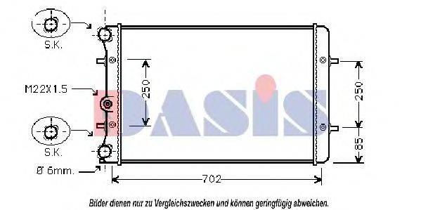 AKS DASIS 480019N Радиатор охлаждения двигателя