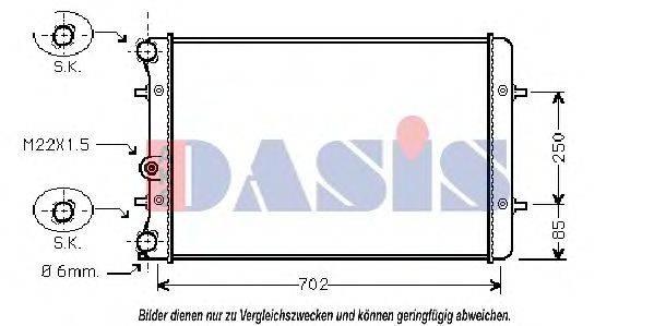 AKS DASIS 480970N Радиатор охлаждения двигателя