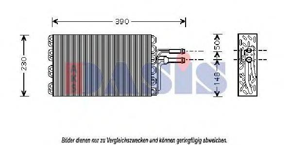 AKS DASIS 820005N Испаритель кондиционера