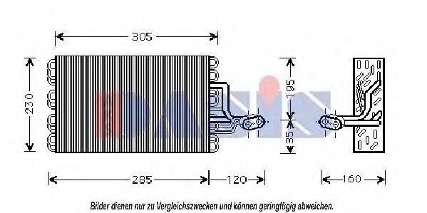 AKS DASIS 820008N Испаритель кондиционера