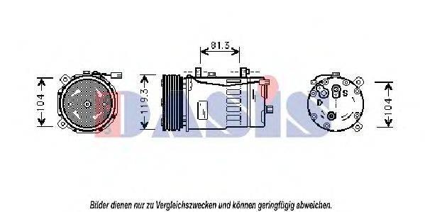 AKS DASIS 850200N Компрессор кондиционера