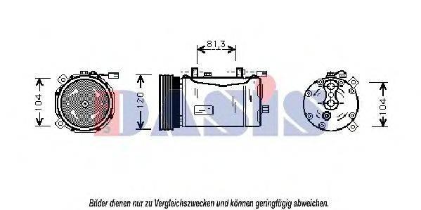 AKS DASIS 851600N Компрессор кондиционера