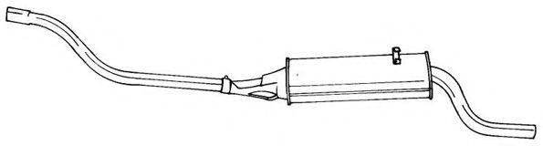 AKS DASIS SG60647 Глушитель выхлопных газов конечный