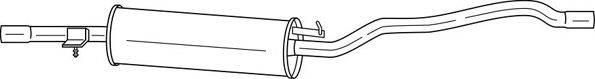 AKS DASIS SG22415 Средний глушитель выхлопных газов
