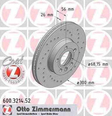 ZIMMERMANN 600321452 Тормозной диск