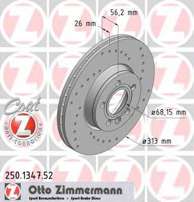 ZIMMERMANN 250134752 Тормозной диск