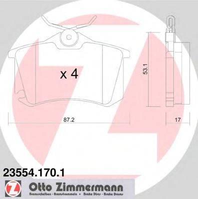 ZIMMERMANN 235541701 Тормозные колодки