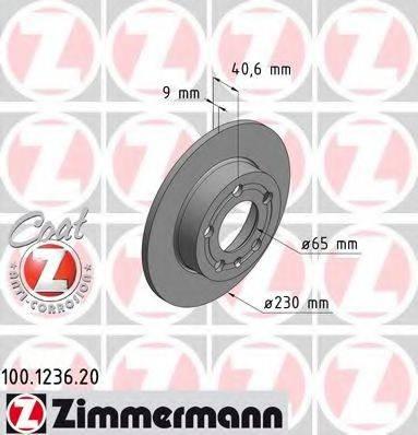 ZIMMERMANN 100123620 Тормозной диск