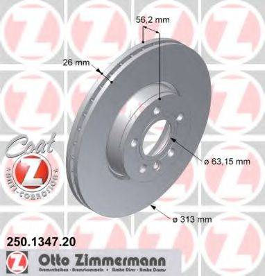 ZIMMERMANN 250134720 Тормозной диск