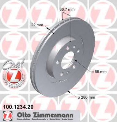 ZIMMERMANN 100123420 Тормозной диск