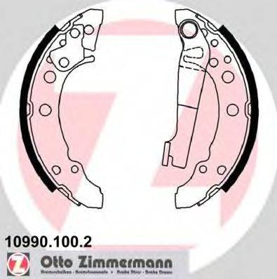 ZIMMERMANN 109901002 Тормозные колодки барабанные