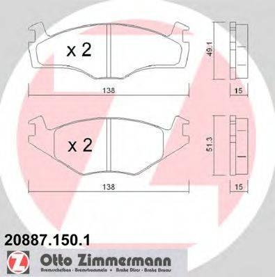 ZIMMERMANN 208871501 Тормозные колодки