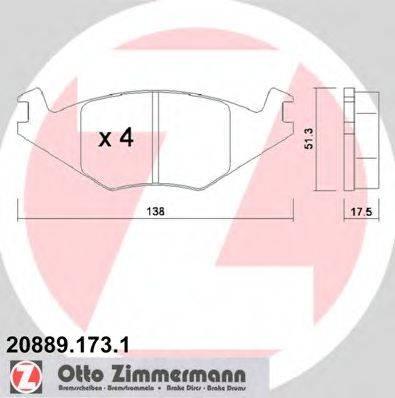 ZIMMERMANN 208891731 Тормозные колодки