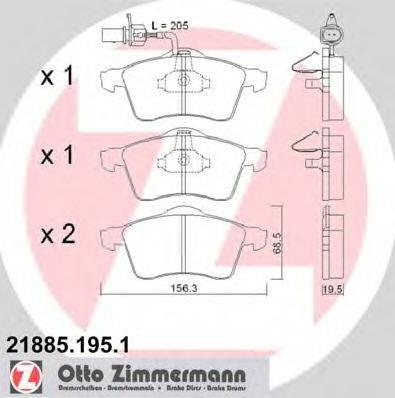 ZIMMERMANN 218851951 Тормозные колодки