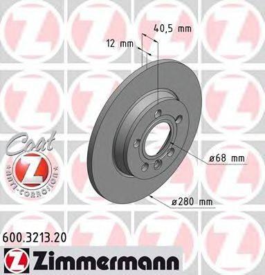 ZIMMERMANN 600321320 Тормозной диск