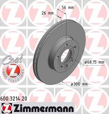 ZIMMERMANN 600321420 Тормозной диск