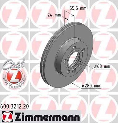 ZIMMERMANN 600321220 Тормозной диск