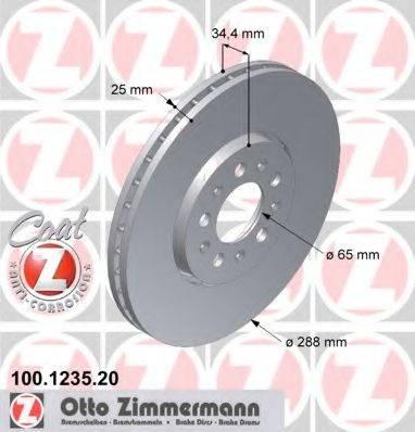 ZIMMERMANN 100123520 Тормозной диск