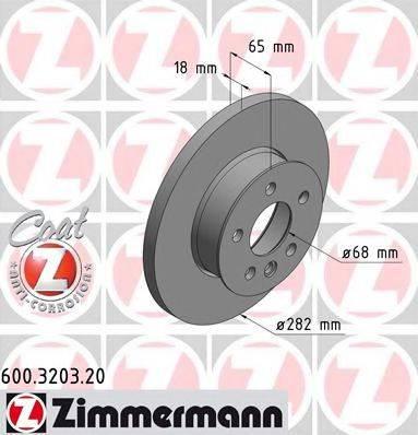 ZIMMERMANN 600320320 Тормозной диск