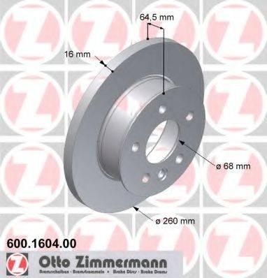 ZIMMERMANN 600160400 Тормозной диск