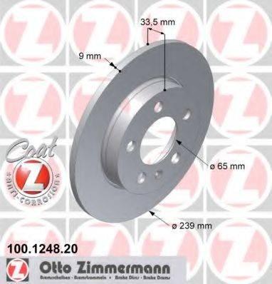 ZIMMERMANN 100124820 Тормозной диск