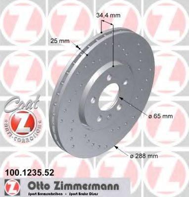 ZIMMERMANN 100123552 Тормозной диск