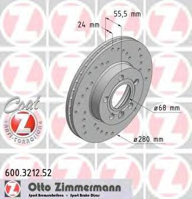 ZIMMERMANN 600321252 Тормозной диск