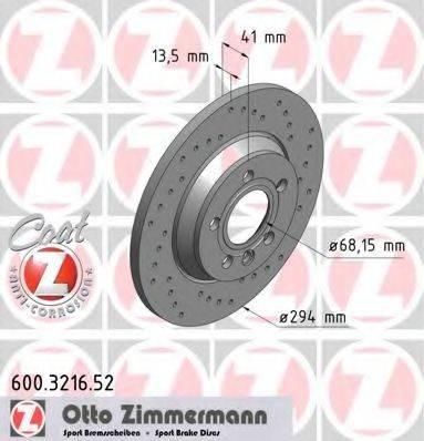 ZIMMERMANN 600321652 Тормозной диск