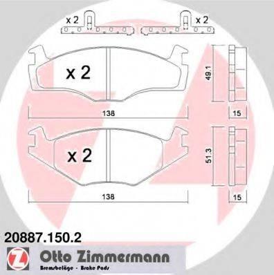 ZIMMERMANN 208871502 Тормозные колодки