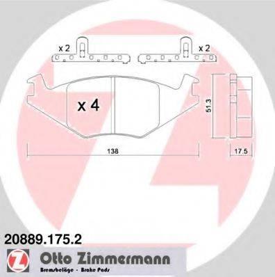 ZIMMERMANN 208891752 Тормозные колодки