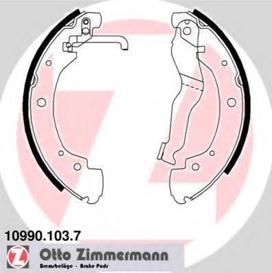 ZIMMERMANN 109901037 Тормозные колодки барабанные
