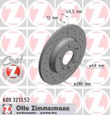 ZIMMERMANN 600321352 Тормозной диск